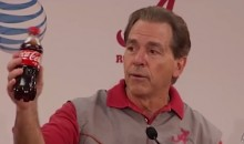 Frustrated Nick Saban Directs All Press Inquiries to a Coke Bottle (Video)