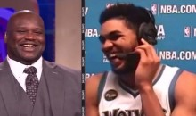 Karl Anthony-Towns Has a Pretty Great Shaq Impression (Video)