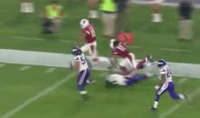 Watch Larry Fitzgerald Deliver a Perfect Pancake Block on Michael Floyd 42-YD TD (Video)