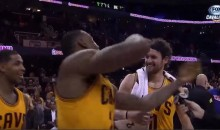 LeBron James Gives Kevin Love Stone Cold Stunner (Video)