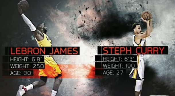 LeBron James vs Steph Curry