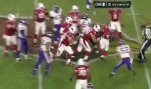 Cardinals' 331-Pound OG Mike Iupati Catches a 10-Yard Pass (Video)