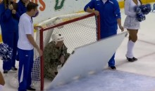 Military Dad Reunites with Family After Hiding in Lightning Goal (Video)