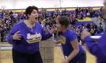 Minnesota Mom Wins Half-Off Daughter's Tuition with Half-Court Shot She Didn't REALLY Make (Video)