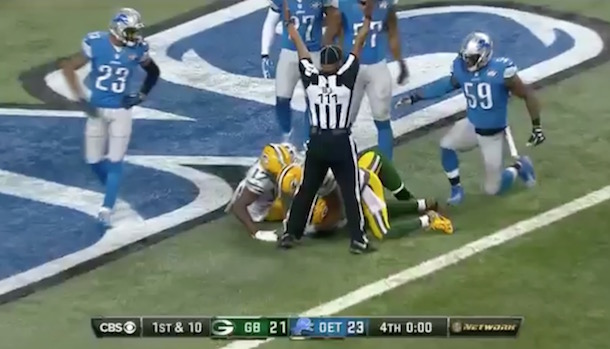 Packers Hail Mary Touchdown vs Lions