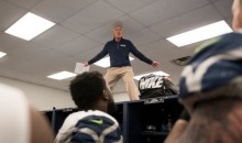 Pete Carroll Was Dancing On Top Of The Lockers! (Pic + Video)