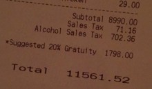 Ravens Rookies Pay $11,560 Dinner Tab For Teammates (Pic)