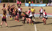 Rugby Girl Levels Opponent With The Hardest Hit You'll See All Week (Video)