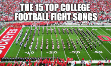 15 Best College Football Fight Songs (Video)