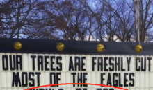 Christmas Trees For Sale Sign Takes A Shot At The Philadelphia Eagles (Pic)