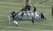 Saints Block Panthers' Extra Point, Take It To End Zone For Two-Point Conversion (Video)