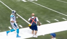 Cam Newton Still Manages To Give Ball To Young Fan After Ref and Ballboy Refuse To Let Him Have It (Video)