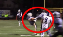 High School Referee Trucks Player, Causes Him To Fumble (Video)