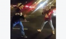 Cowboys Fan Drops Redskins Fan, Then Gets Jumped & Almost Hit By Car (Video)