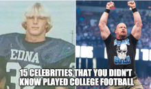 15 Celebrities That You Didn't Know Played College Football (Video)