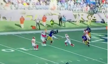 Jimmy Clausen Tosses Perfect Hail Mary Touchdown Pass To Kamar Aiken (Video)