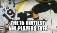 The 15 Dirtiest NHL Players Ever (Video)