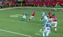 Matt Ryan Jukes Panthers Defender Out Of His Shoes On First Down Run (Video)