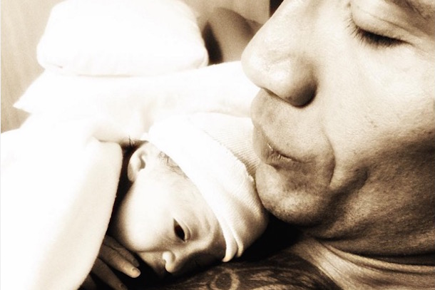 The Rock Posts Inspirational Message on Instagram newborn daughter