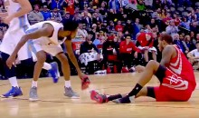 Trevor Ariza Loses Shoe, Will Barton Throws It Away (Video)