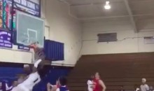 Watch This ASU WR Commit Shatter a Basketball Backboard (Video)