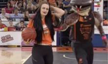 This Female's Half-Court Shot Is So Bad, It's Hard To Watch (Video)