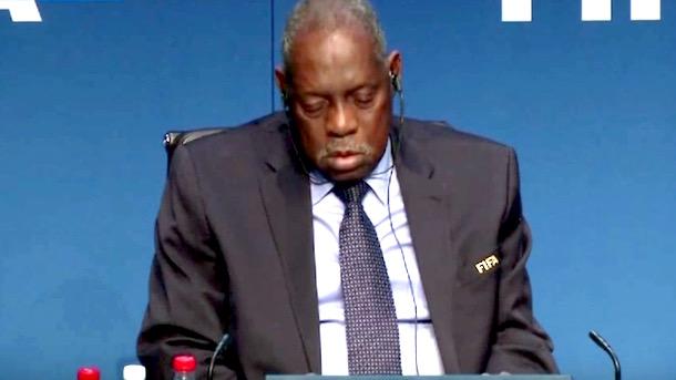acting fifa president Issa Hayatou