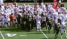 While You Were Watching Conference Championship Games, This Baylor-Texas Brawl Happened (Videos)