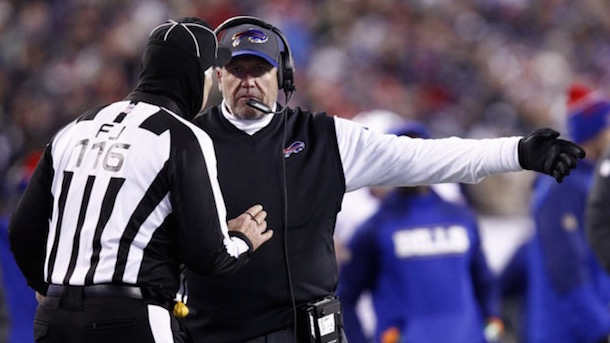 bills coaches confront refs after eagles game call them disgrace to nfl