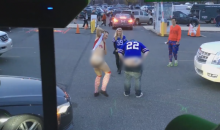 Buffalo Bills Fans 'Moon' Eagles Fans After The Game (Video)