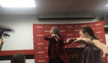 Falcons Owner Arthur Blank Dabs After Team Beats Undefeated Panthers (Vid)