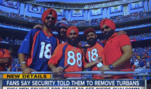 Fans In Turbans Were Turned Away By A Security Guard At Chargers Stadium (Vid)