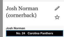 Panthers Josh Norman Gets A Wiki Update (PIC)
