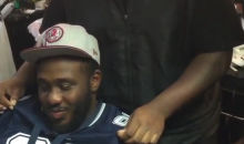 Skins Fan Loses Bet, Has To Wear Cowboys Jersey & Get Star In Hair (Video)
