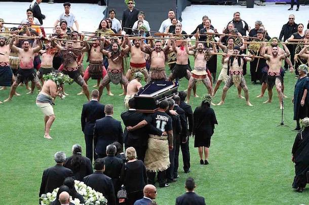 jonah lomu funeral haka dance