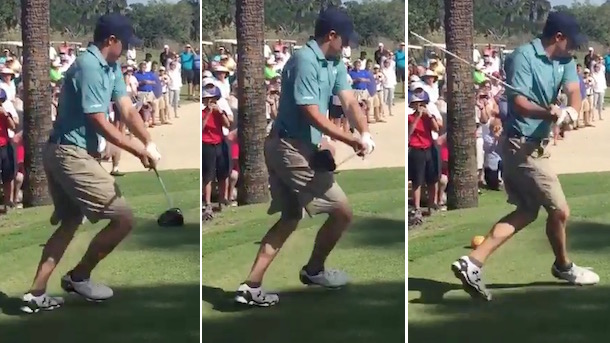 jordan spieth hits happy gilmore