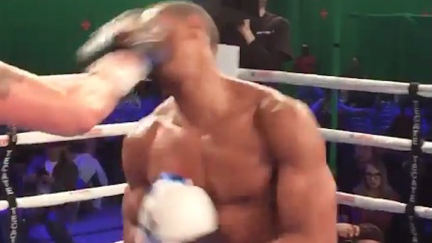 michael b. jordan took real punches creed