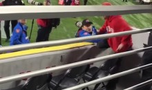 Nebraska Fan Attempts to Run on Field, Fails Miserably (Video)