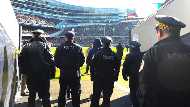off-duty police officers guns nfl games