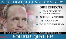 Peyton Manning HGH PR Commercial; Stop HGH Accusations now (Video)