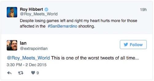 san bernardino shootings roy hibbert tweet 2