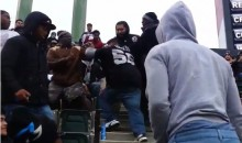 Oakland Raiders Fans Fighting Each Other At The Game (Video)