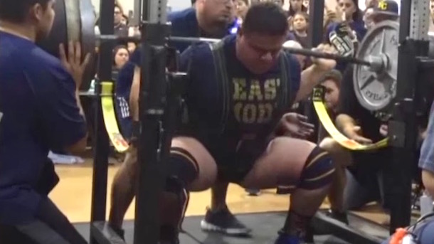 17-year-old jose pena squats 875 pounds