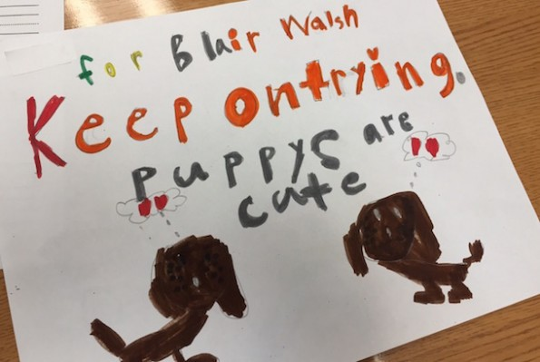 Blair Walsh First-Grader Letters