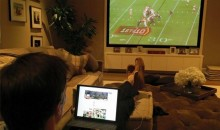 Tom Brady Spent a Quiet Saturday Night Studying Film at Home (Pic)