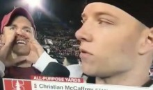 Fan Continuously Interrupts McCaffrey's Interview To Yell HEISMAN (Video)