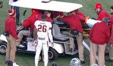 Arkansas WR Dominique Reed Taken Off On Stretcher After Possible Neck Injury (Video)