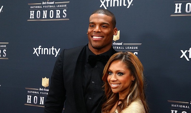 Cam Newton and girlfriend