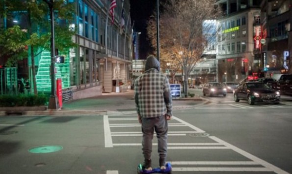 Cam Newton hoverboard photo