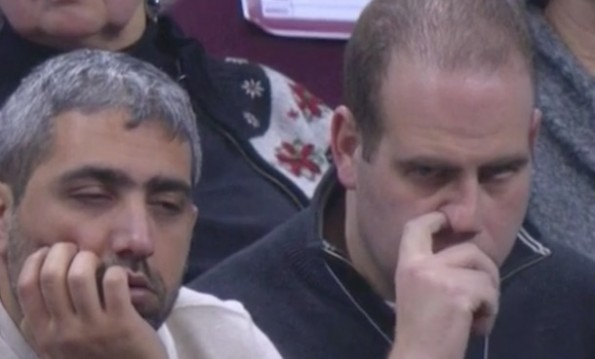 Cavs Fans Pick Nose Sleep